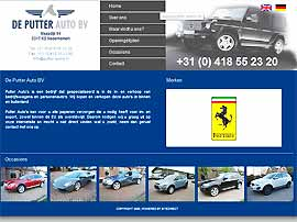 PUTTER AUTO'S website