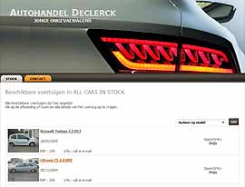 DECLERCK AUTOHANDEL website