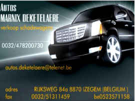 AUTOS MARNIX DEKETELAERE website
