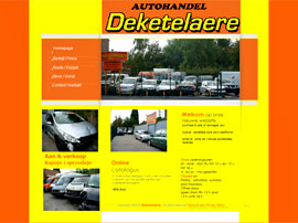 AUTOS DEKETELAERE website